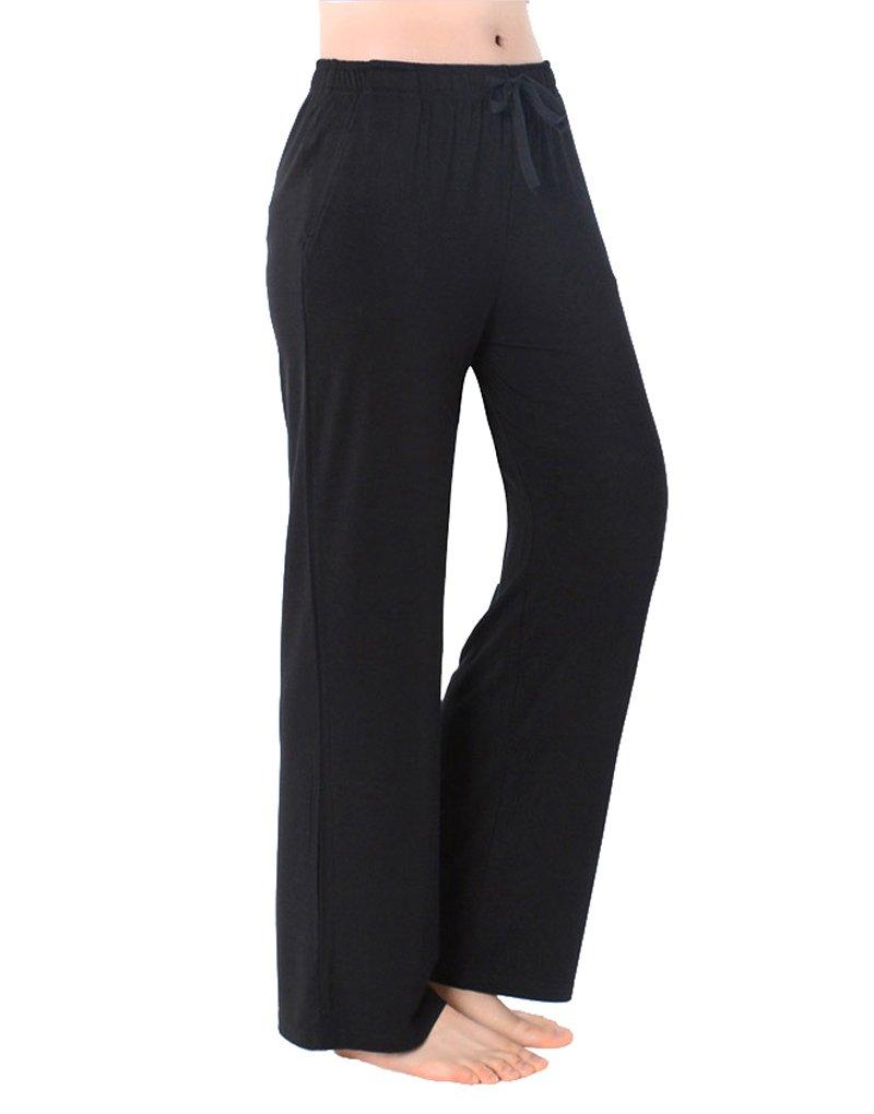 YIJIU Womens Modal Pajama Pants Wide Leg Sleepwear Casual Loose Lounge Bottoms