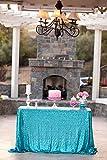 Best Wholesale 10pcs 90x132inch Rectangle Sequin Tablecloth Turquoise, Sequin Tablecloth Shimmer Sequin Fabric,Table Linen Wedding/Party/Evening Dress Decoration