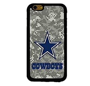 """NFL Dallas Cowboys with (Army) Camouflage Custom Shockproof Rubber Case By S and S Accessories(TM) for iPhone 6 Plus 5.5"""""""