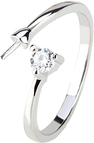 Amazon Com Ny Jewelry 925 Sterling Silver Adjustable Simple Cz