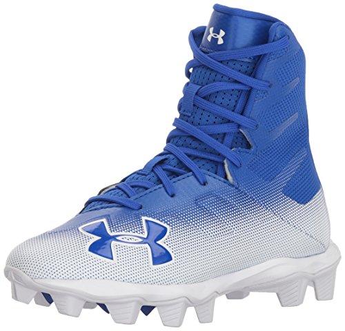 Under Armour Boys' Highlight RM Jr. Football Shoe, Blue, 4
