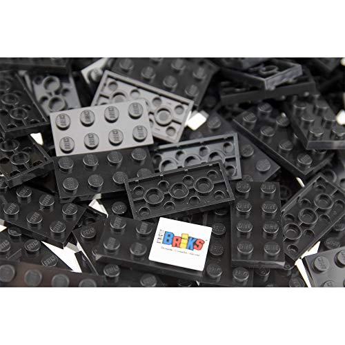 Strictly Briks Classic Briks Building Starter Kit - 100% Compatible with All Major Brick Brands - 2x4, Flat Black, 144 Pieces