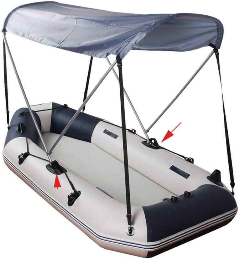 3x Speedboat Inflatable Boat PVC Awning// Sun Shade// Bimini Top Mount Base
