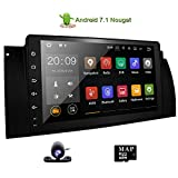 Touchscreen Head Unit for BMW E39 E53 M5 X5 Car Stereo 9 inch Navigation Android 7.1 Radio with Bluetooth Hands Free Calling Built-in WiFi GPS with Canbus Box Rear View Camera