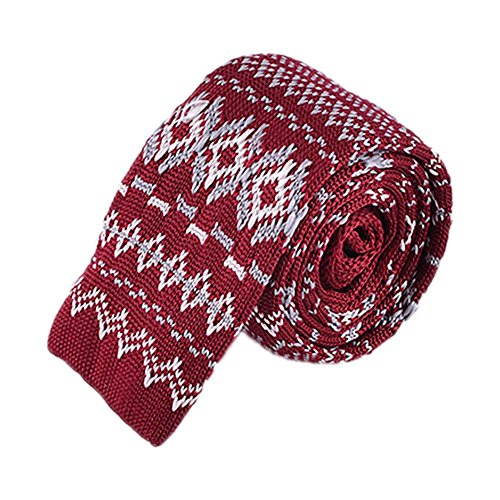 (FAIR ISLE DIAMOND KNIT TIES)