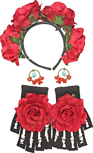 Day of The Dead Female Kit Costume Accessory Kit