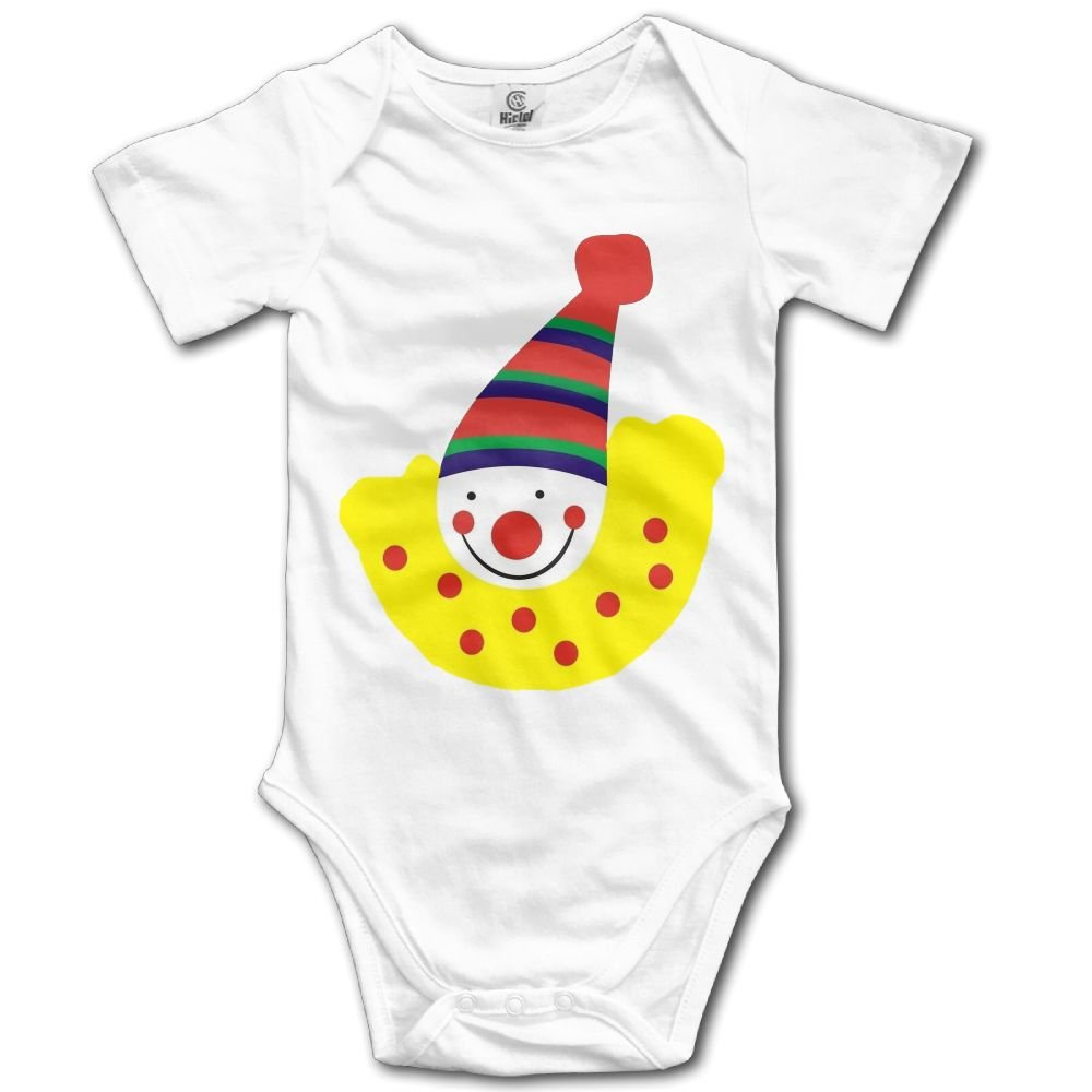 Rainbowhug Concise Clown Unisex Baby Onesie Cute Newborn Clothes Unique Baby Outfits Comfortable Baby Clothes