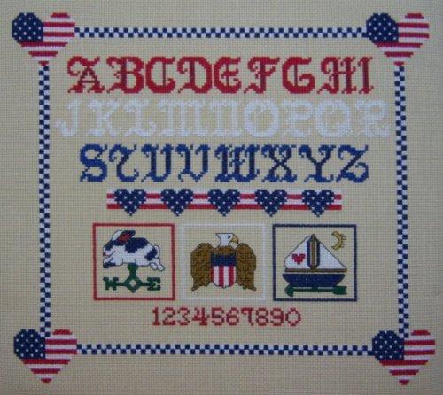 (Americana Sample, A Counted Cross Stitch Kit)