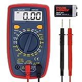 AstroAI Multímetro Digital Profesional, Voltimetro Amperimetro, Medidor de Corriente Voltaje DC, Resistencia, Continuidad, Diodos 1 Año de Garantía