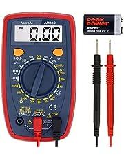 AstroAI Multimètre Numérique Portable, Mini Multimètre Digital, Testeur de Tension Testeur Electrique DC/Voltmètre /Résistance /Continuité /Diodes