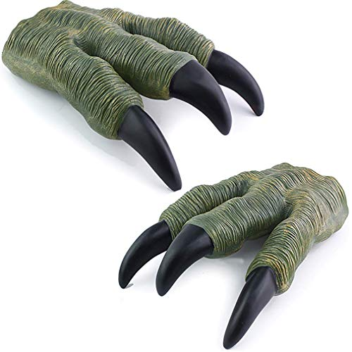 Liberty Imports 2 Pack Set of Dinosaur Oversized Dino Velociraptor Claws for Adult Kids Cosplay ()