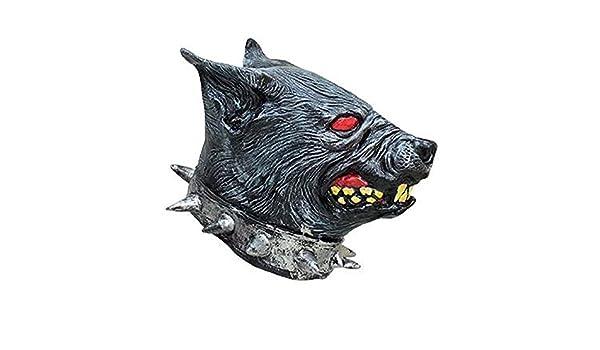 Máscara de perro rabioso lástex adulto: Amazon.es: Juguetes ...