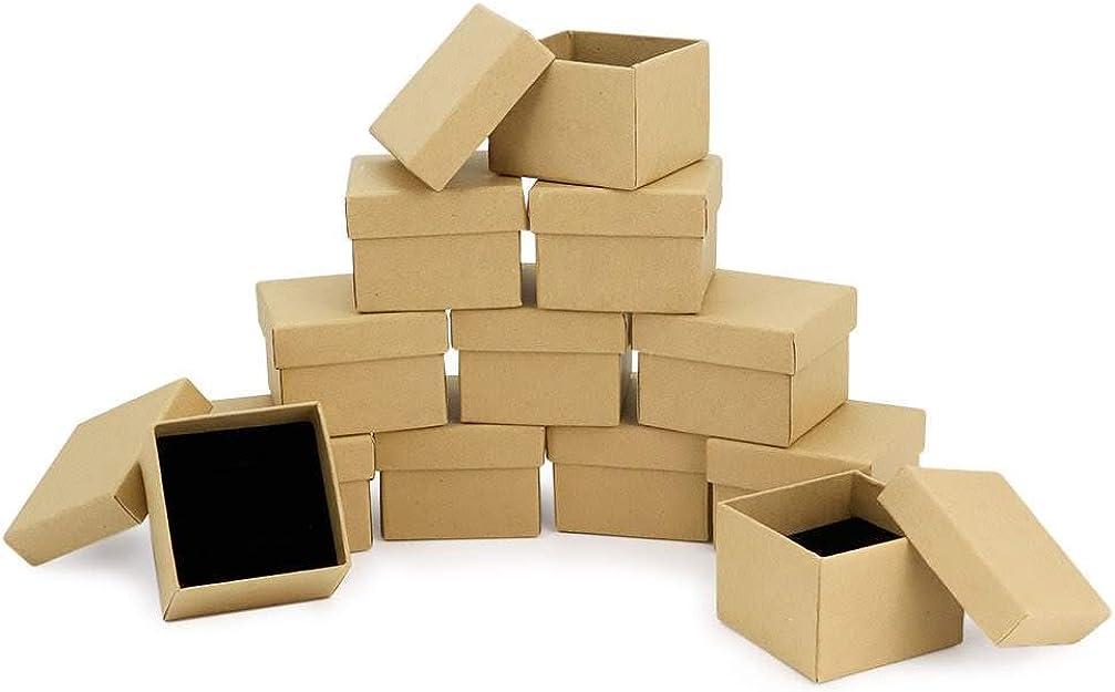 RUBY- 24 Cajas Carton Kraft de Regalo Medidas 5cm X 5cm, para ...