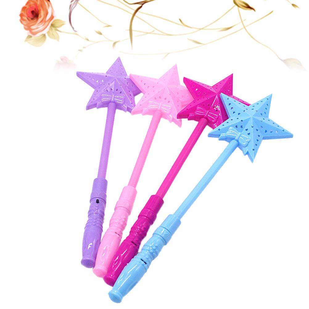 Color Aleatorio Toyvian 10pcs Baton m/ágico ni/ño Estrellas Intermitente LED baqueta Hada Luminosa Decoration Fiesta de cumplea/ños