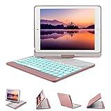 ipad 2 keyboard case purple - New iPad 9.7 Keyboard Case (2017,2018), GreenLaw 7 Color Backlit Keyboard Case Cover 360 Rotate Smart Keyboard Case with Auto Wake/Sleep for iPad pro 9.7, New iPad 2018, ipad 2017, iPad Air, Air 2