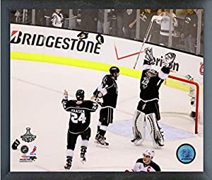 "Jonathan Quick, Drew Doughty, & Colin Fraser Los Angeles Kings 2012 NHL Stanley Cup Finals Action Photo (Size: 12"" x 15"") Framed"