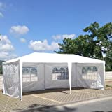 FCH 10'x20'Outdoor Patio Party Canopy Tent Wedding Outdoor Tent Gazebo Pavilion for Waterproof 4 Window SideWalls