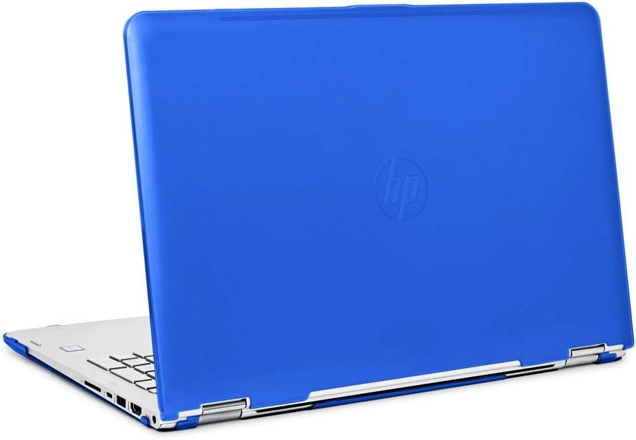 "mCover iPearl Hard Shell Case for 15.6"" HP Envy X360 15-AQxxx / M6-AQxxx Series (15-AQ173cl / m6-AQ103dx, etc) Convertible laptops (X360-15-AQ Blue)"