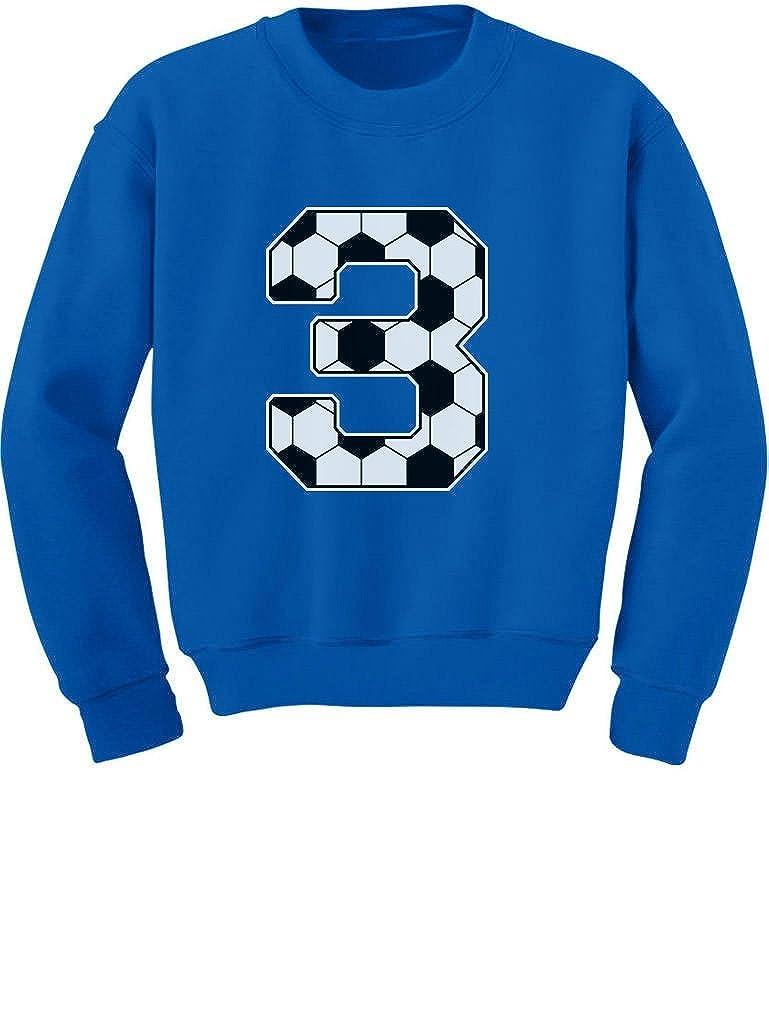 Tstars 3rd Birthday Gift 3 Year Old Soccer Fan Toddler//Kids Sweatshirt