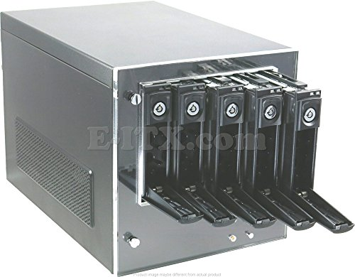 CFI A6039 Mini-ITX NAS Server Case with 5 Hot-Swappable HDD/SSD Trays 400W PSU
