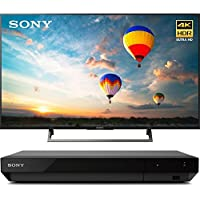 Sony XBR43X800E 43 16:9 4K HDR Edge Lit LED UHD LCD TV with Android TV and Google Home Compatibility 3840x2160 + Sony UBPX700 Ultra HD BluRay Player with Dolby Vision