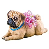 Collections Sweet Pup Pet Dog Breed Resin Animal Garden Statue Planters Decoration