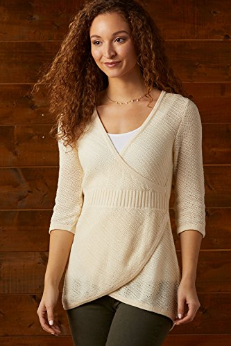 Fair Indigo Fair Trade Organic 3/4 Sleeve Ballerina Sweater