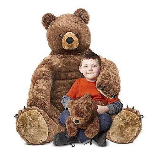 Melissa & Doug Giant Brown Bear and Baby Cub -  Lifelike Stuffed Animals (nearly 3 feet tall)