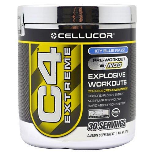 Cellucor C4 Экстрим | Предварительная тренировка Дополнение Напитки | Лучший Pre Workout порошок | Icy Синий Разз 171g - 30 порций