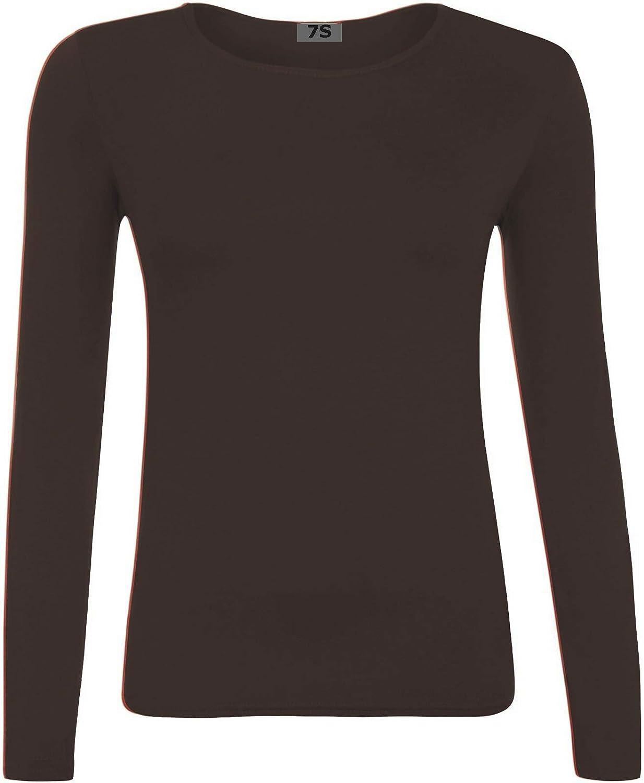 13 Jahre 7STYLES/® M/ädchen Langarm-T-Shirt 2 Gr unifarben