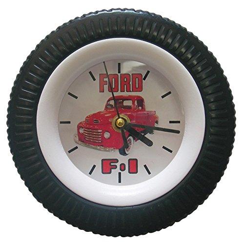 (Ford 1948 F1 Pickup Truck Tire Wall Clock)
