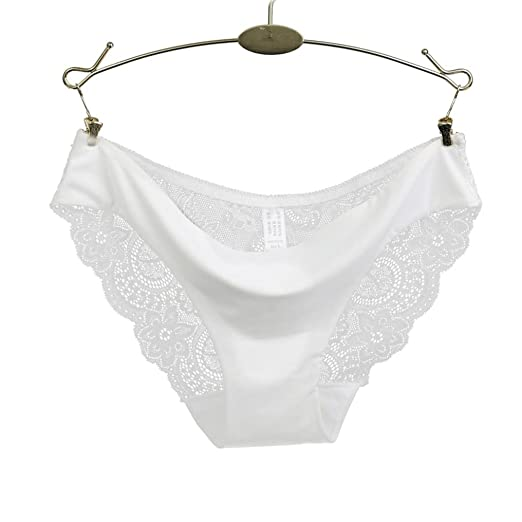 07eb1d0f88f lace Panties Seamless Cotton Panty Hollow Briefs Underwear for Women (S