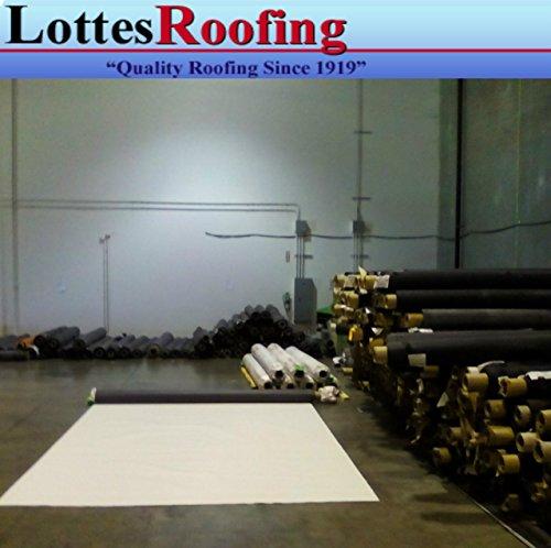 10' x 15' 45 mil TPO White RV Rubber Roofing Kit, Membrane ...