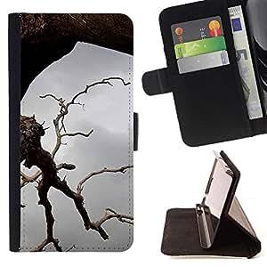 For HTC One Mini 2 M8 MINI Case , Planta Naturaleza Forrest Flor 44- la tarjeta de Crédito Slots PU Funda de cuero Monedero caso cubierta de piel