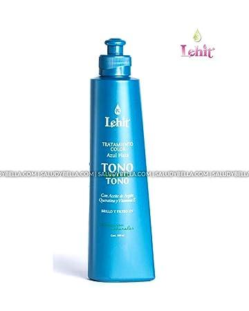 Amazon.com: Lehit Tratamiento Matizador Azul Plata Tono Sobre Tono Con Aceite de Argan Queratina y Vit E Cabello Brillo Matizante | Silver Blue Nuance ...