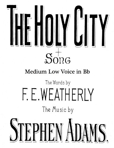 Easter Song Sheet Music (The Holy City - Sacred Song - Piano/Vocal for medium low voice in Bb)