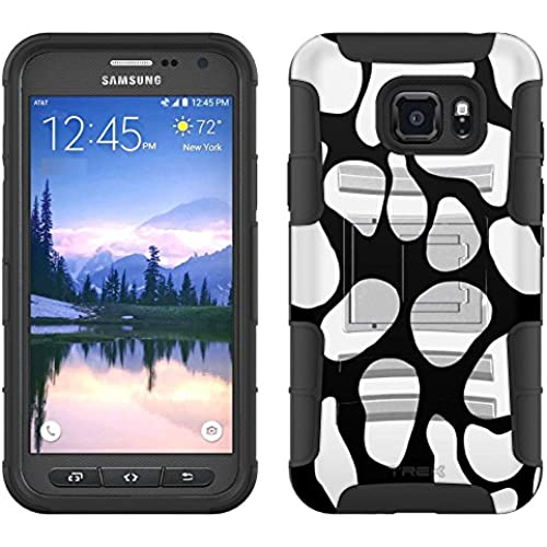 Samsung Galaxy S7 Active Armor Hybrid Case Cow Print 2 Piece Case with Holster for Samsung Galaxy S7 Active Sales
