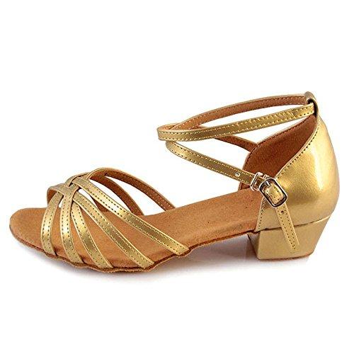 e Scarpe per da per Danza Latina XFentech Ragazze Donne Morbide Oro Ballo la fAUqwx5xYC