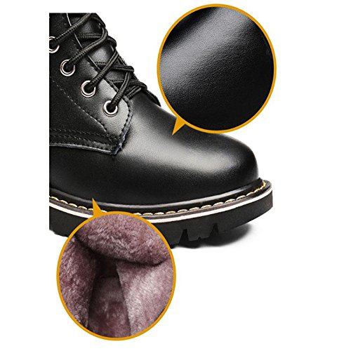 aire libre calientes invierno BLACK 36 Botas de Espesado antideslizante plano de black al Botas 39 mujer 8UvRPp