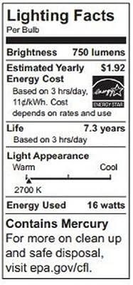 TCP 1P3016 CFL PAR30 - 75 Watt Equivalent (16W) Soft White (2700K) PAR Flood Light Bulb