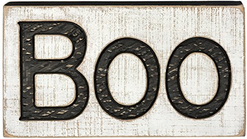 Primitives by Kathy PBK Halloween Decor - Boo Carved Wood Mantle Sign