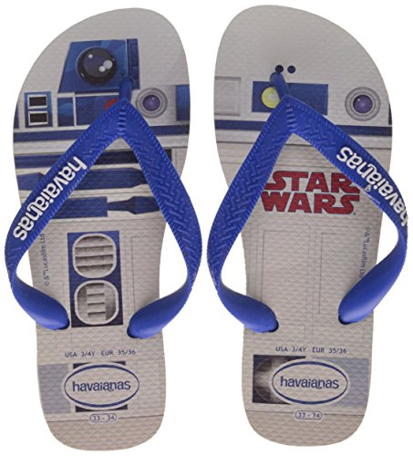 Havaianas Star Wars Flip Flops - White / Blue UK 1213 5wllCt