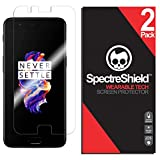 Spectre Shield (2 Pack) Screen Protector for OnePlus 5 Accessory OnePlus 5 Case Friendly Full Coverage Clear Film