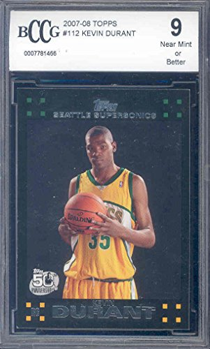 2007-08-topps-112-kevin-durant-golden-state-warriors-rookie-card-bgs-bccg-9-graded-card