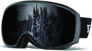 Loowoko Ski UV Protection Anti Fog OTG Snowboard Goggles