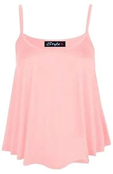 Neue Damen Uni Swing Weste Ärmelloses Top Strappy Cami Damen Plus Größe  Flared Größe UK 8
