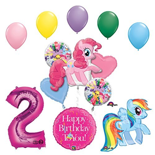 My Little Pony Pinkie Pie and Rainbow Dash 2nd Birthday Party Supplies and Balloon Decorations
