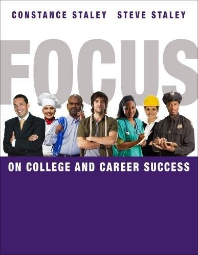 FOCUS on College and Career Success (Cengage Learnings FOCUS Series)