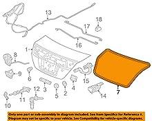 Genuine Honda 74865-TS8-A01 Trunk Lid Weatherstrip