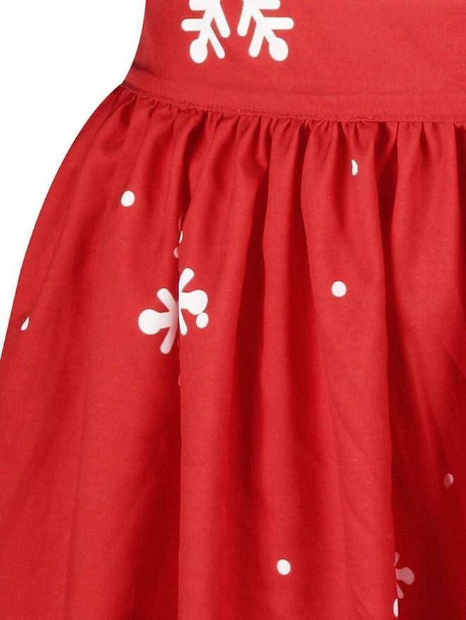 Luckycat Vestido de Fiesta de Manga Larga con Estampado navideño de Talla Grande para Mujer Criss Cross: Amazon.es: Ropa y accesorios